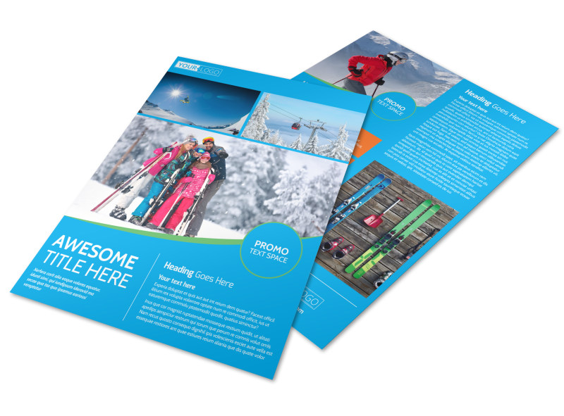 Popular Ski Resort Flyer Template  Mycreativeshop