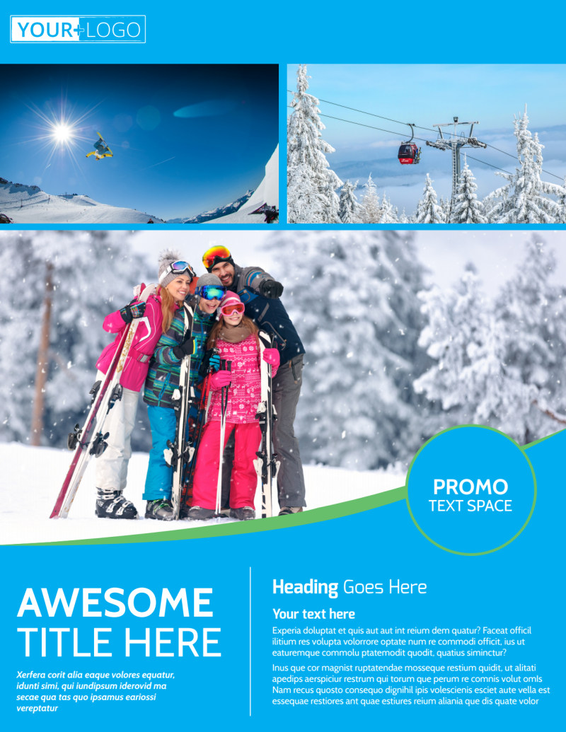 Popular Ski Resort Flyer Template Preview 2