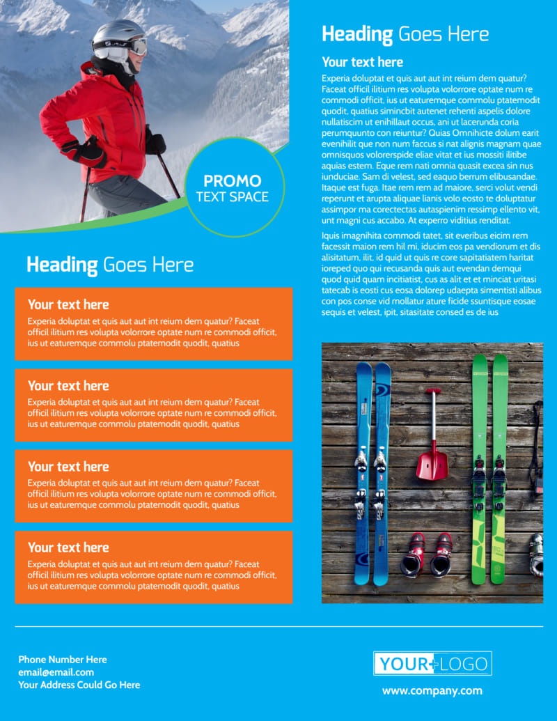 Popular Ski Resort Flyer Template Preview 3