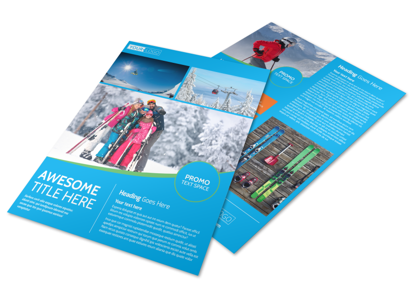 Popular Ski Resort Flyer Template Preview 1