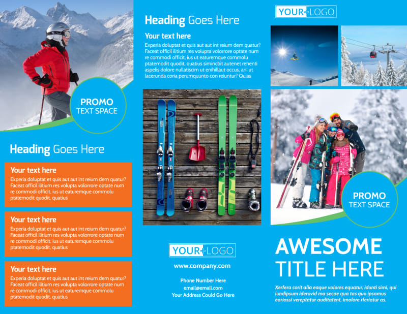 Popular Ski Resort Brochure Template Preview 2