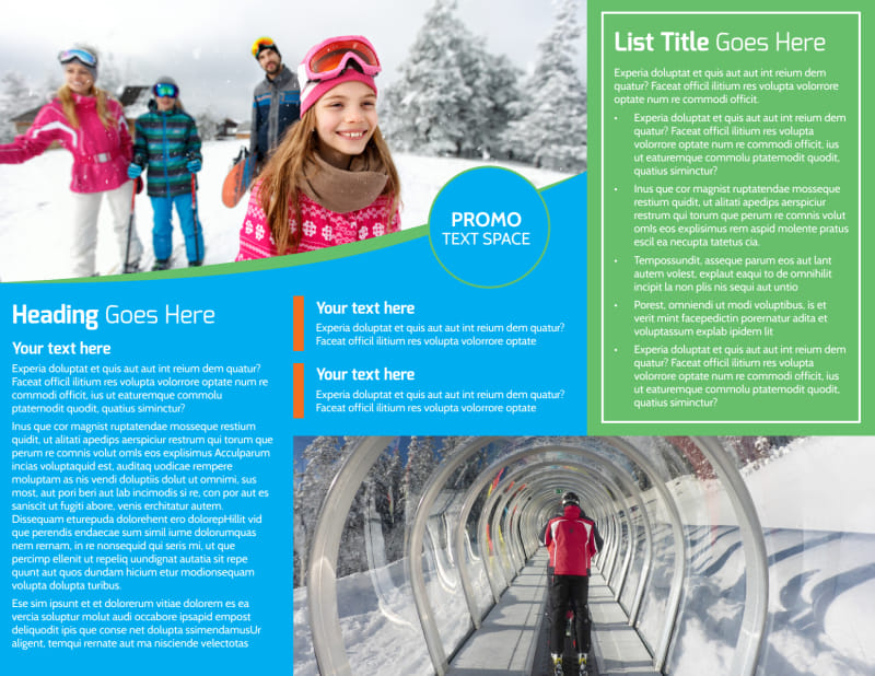 Popular Ski Resort Brochure Template Preview 3