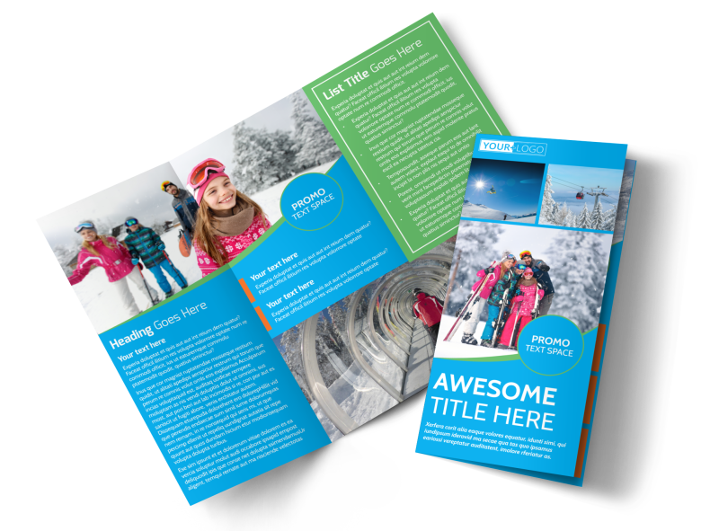 Popular Ski Resort Brochure Template Preview 1