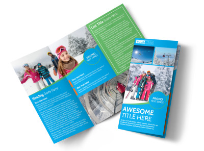 Popular Ski Resort Tri-Fold Brochure Template preview