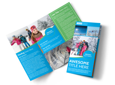 Popular Ski Resort Tri-Fold Brochure Template preview