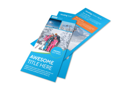 Popular Ski Resort Flyer Template 2