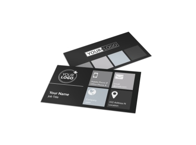 Generic Business Card Template 11263