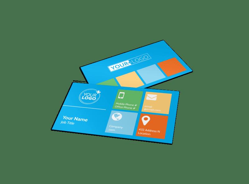 Popular Ski Resort Business Card Template Preview 1