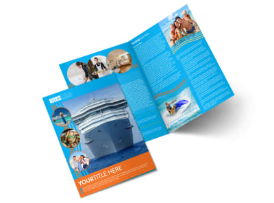 Cruise Ship Vacation Bi-Fold Brochure Template 2