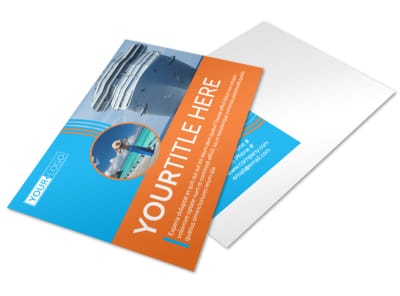 Cruise Ship Vacation Postcard Template 2