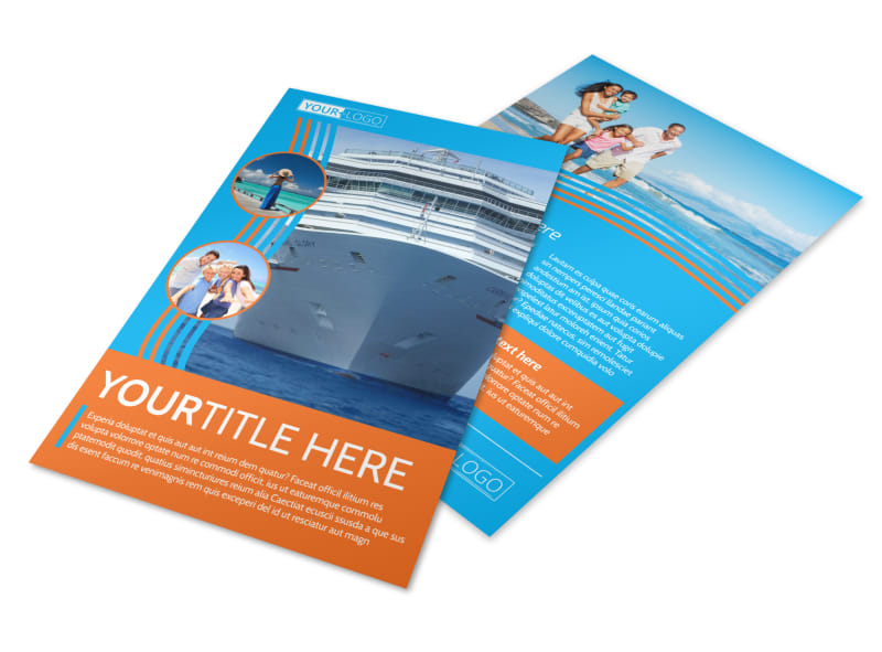 Cruise Ship Vacation Flyer Template 3