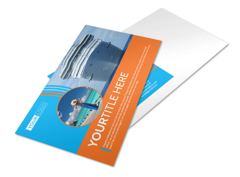Cruise Ship Vacation Postcard Template Preview 4