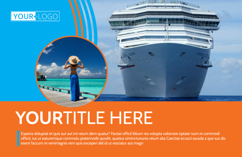 Cruise Ship Vacation Postcard Template Preview 2