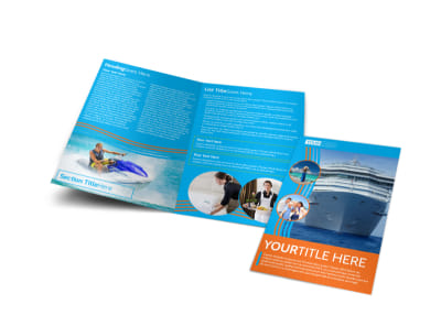 Cruise Ship Vacation Bi-Fold Brochure Template
