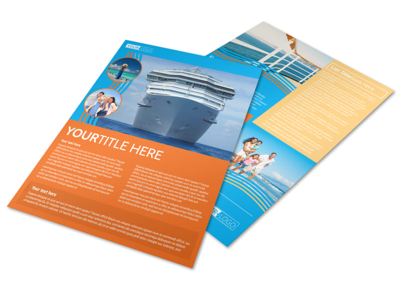 Cruise Ship Vacation Flyer Template  Mycreativeshop