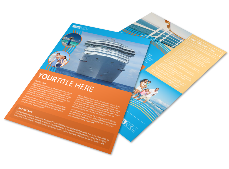 Cruise Ship Vacation Flyer Template Preview 1