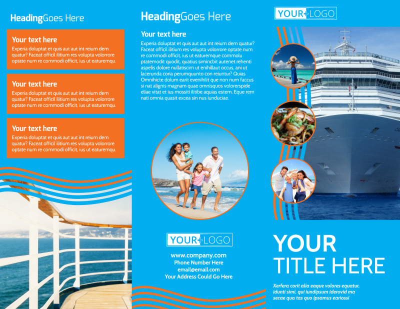 Cruise Ship Vacation Brochure Template Preview 2