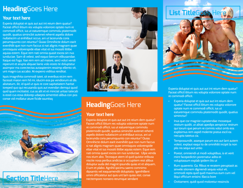 Cruise Ship Vacation Brochure Template Preview 3