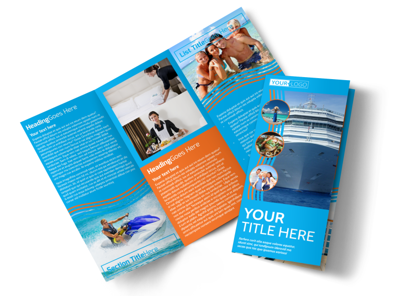 Cruise Ship Vacation Brochure Template Preview 1
