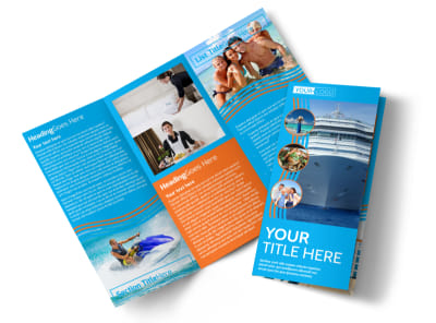Cruise Ship Vacation Tri-Fold Brochure Template