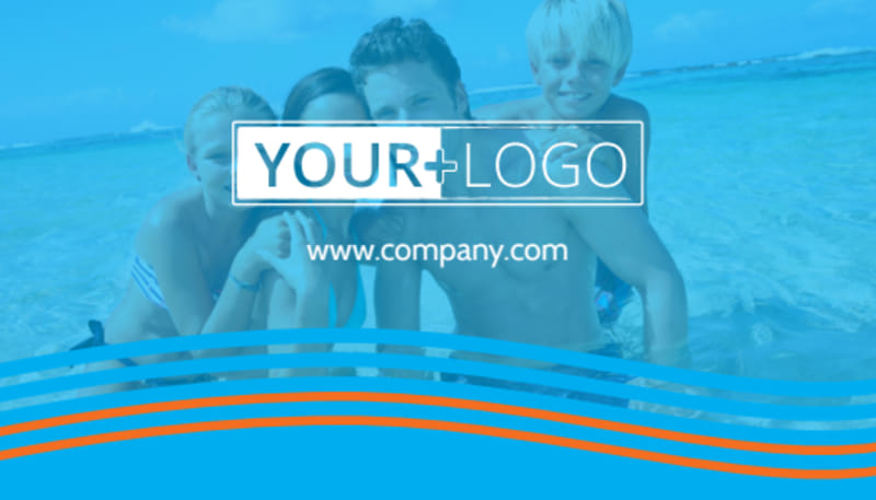Cruise Ship Vacation Business Card Template Preview 3