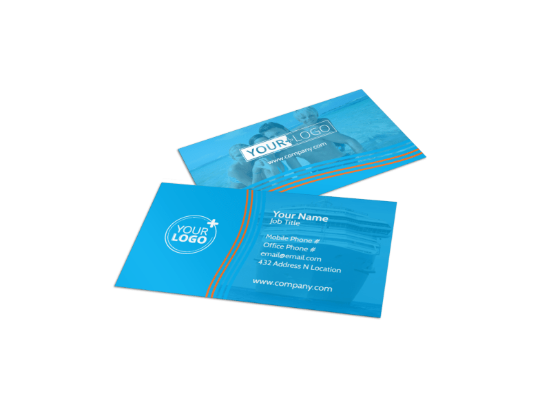 Cruise Ship Vacation Business Card Template Preview 1