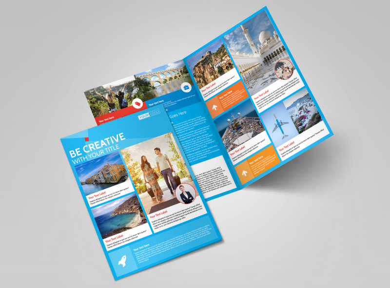 Awesome Travel Agents Bi-Fold Brochure Template 2