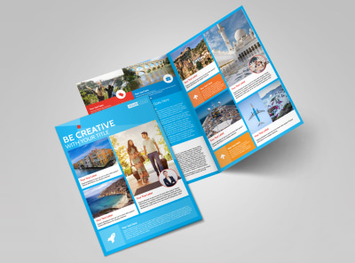 Awesome Travel Agents Bi-Fold Brochure Template 2 preview