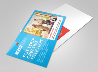 Awesome Travel Agents Postcard Template 2 preview