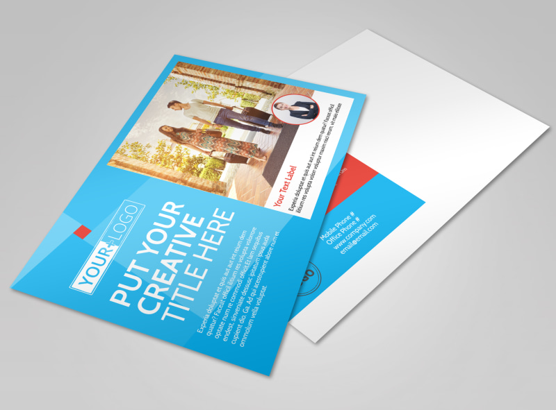 Awesome Travel Agents Postcard Template