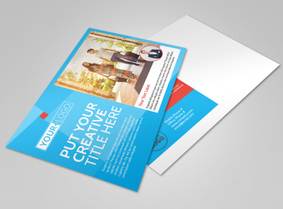 Awesome Travel Agents Postcard Template preview