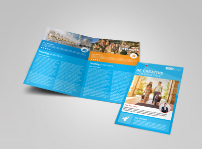 Awesome Travel Agents Bi-Fold Brochure Template