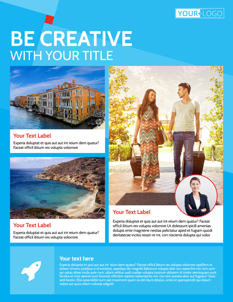 Awesome Travel Agents Flyer Template Preview 2