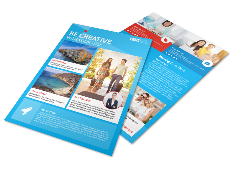Awesome Travel Agents Flyer Template Preview 1