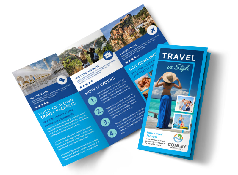 awesome travel agents tri fold brochure template