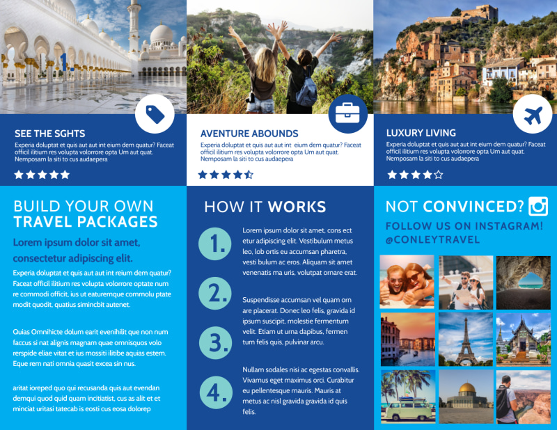 Awesome Travel Agents Brochure Template Preview 3