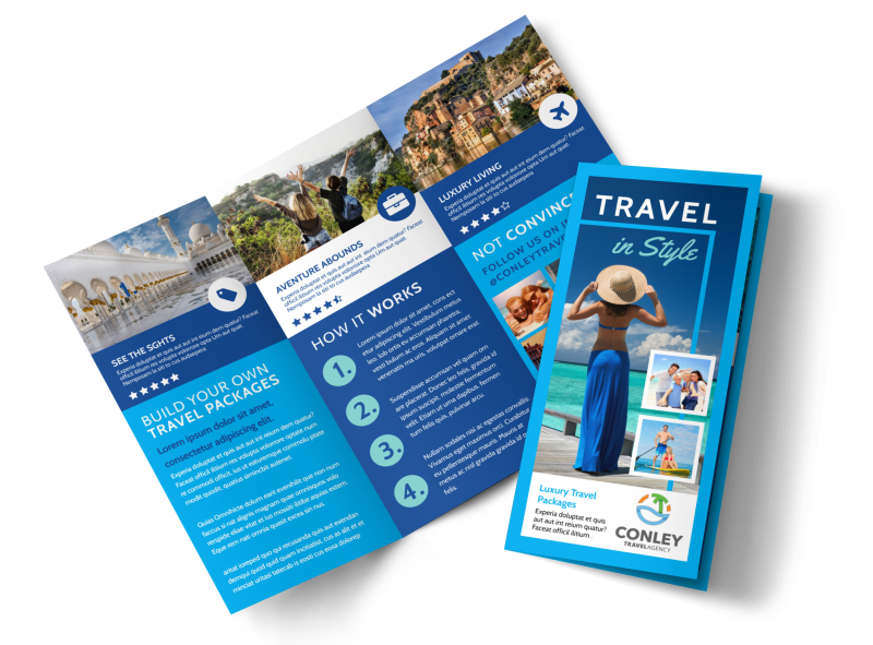 Awesome Travel Agents Brochure Template Preview 1