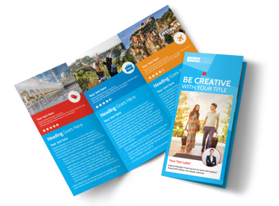 Awesome Travel Agents Tri-Fold Brochure Template preview