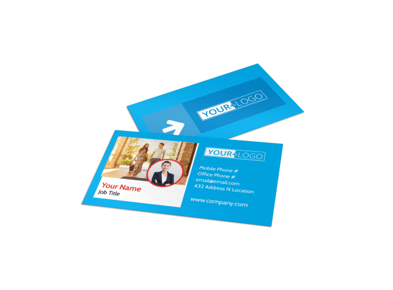 Awesome Travel Agents Business Card Template Preview 1