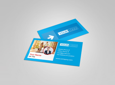 Awesome Travel Agents Business Card Template preview