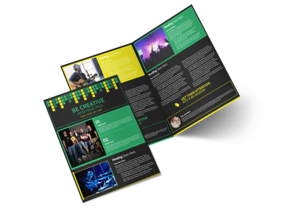 Popular Music Band Bi-Fold Brochure Template 2