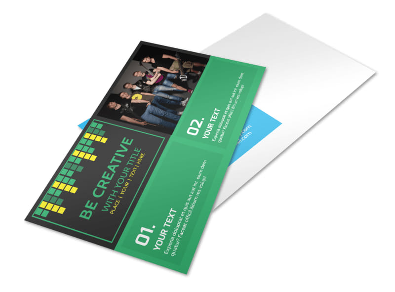 Popular Music Band Postcard Template 2