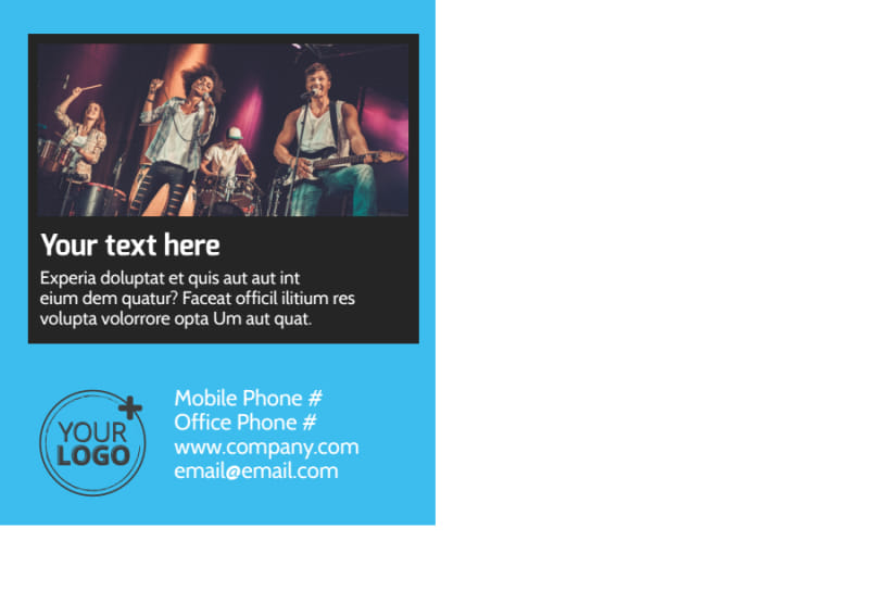 Popular Music Band Postcard Template Preview 3