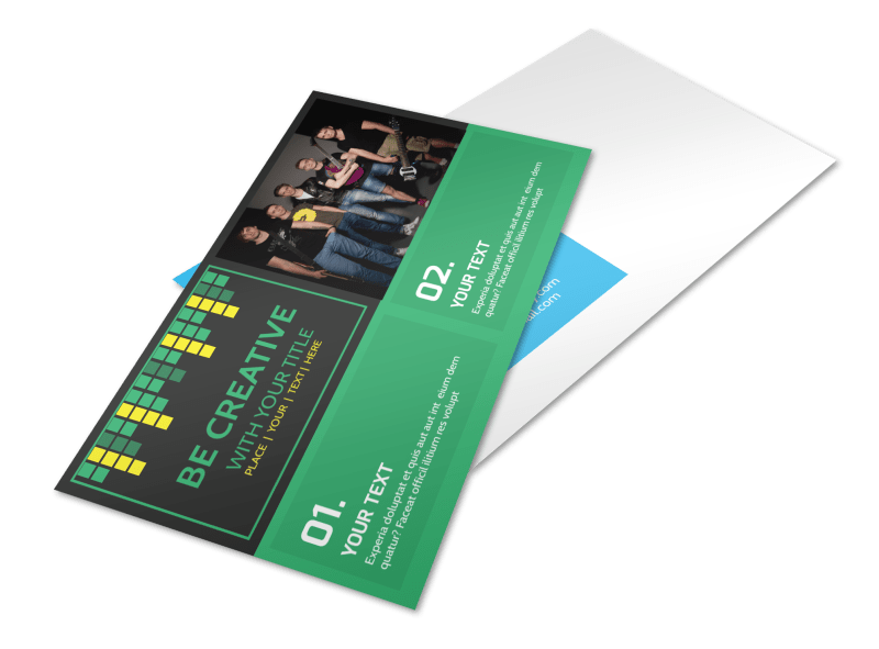 Popular Music Band Postcard Template Preview 1