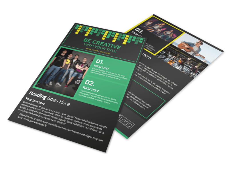 popular music band flyer template mycreativeshop