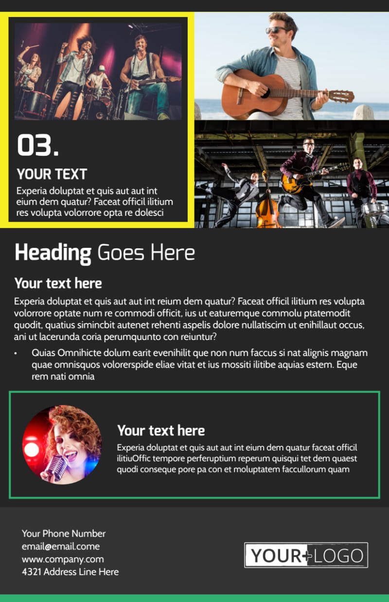 Popular Music Band Flyer Template Preview 3
