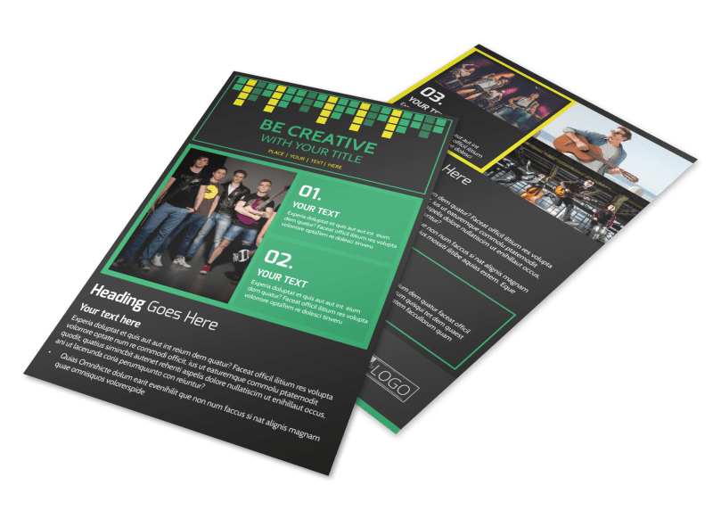 Popular Music Band Flyer Template Preview 1