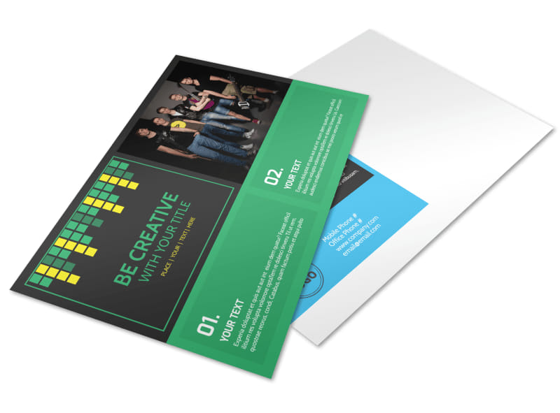 Popular Music Band Postcard Template Preview 4