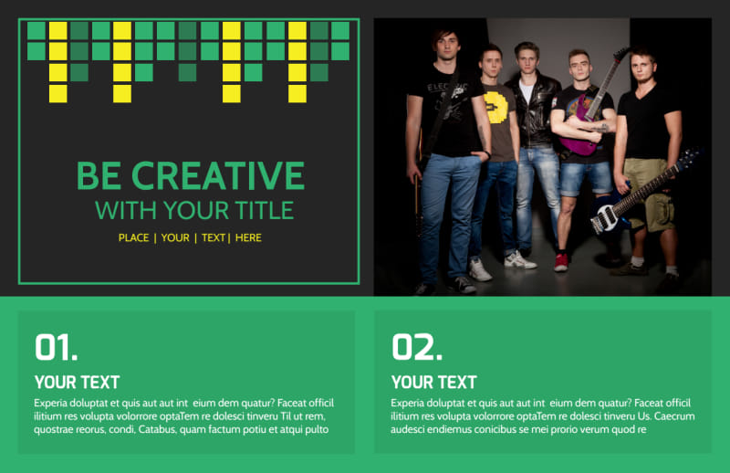 Popular Music Band Postcard Template Preview 2