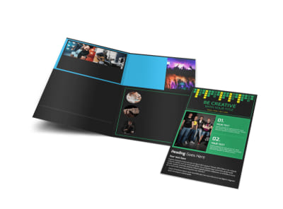Popular Music Band Bi-Fold Brochure Template preview